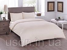 Комплект постельного белья полуторный размер tac ранфорс BASIC KREM