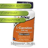 NOW L-Carnitine 500 mg 60 veg caps