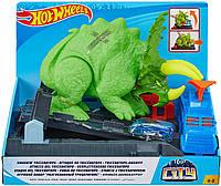 Трек Хот Вилс Город Разгневанный Трицератопс Hot Wheels Smashin' Triceratops City Playset