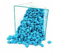 Посыпка Снежинки голубые 50 грамм, фото 1