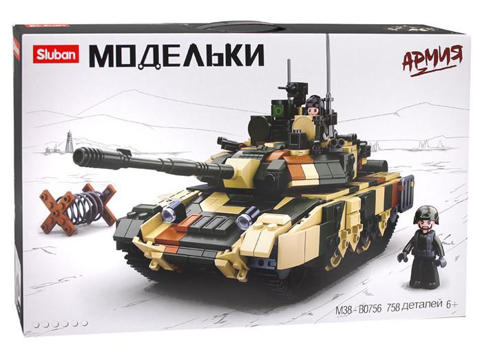 """Конструктор Танк Sluban M38-B0756 з серії """"Армія"""" 758 деталей."""