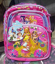 Школьный розовый рюкзак «Winx» 3D для девочки
