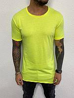 Чоловіча футболка подовжена Black Island ADA1086-2471 yellow