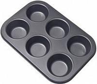 Тефлоновая форма для маффинов и кексов из 6 шт