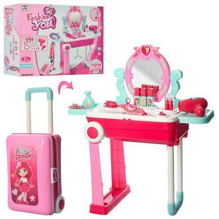 Трюмо у валізі для дівчаток 008-923 Зі світлом і музикою. Фен дзижчить і дме, фото 2