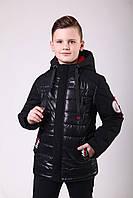 Куртка весенняя для мальчика  интернет магазин  36-44 черный