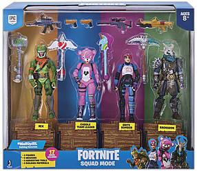 Фортнайт фигурки - Пак из 4 детализированных героя от Jazwares Fortnite Squad Mode 4 Figure