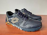 Туфли мужские темно синие спортивные прошитые удобные (код 155), фото 1
