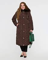 Длинное теплое пальто на натуральном пуху, разные цвета, фото 1