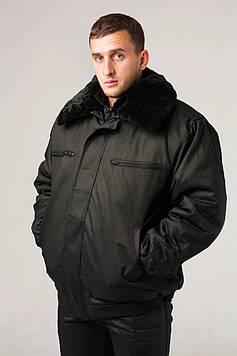 Куртка зимняя под резинку черная