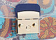 Сумка в стиле Фурла силиконовая с цветным широким ремешком разноцветная (0466-blue), фото 3