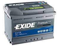 Аккумулятор Exide Start-Stop EFB 70Ah 720A 12V R Евро (175x190x278)
