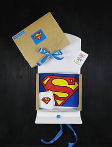 """Подарочный набор мужской. Футболка с принтом """"Superman"""", носки с принтом """"Superman"""""""