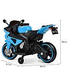 Детский мотоцикл Yamaha M 4183-4 синий, фото 6