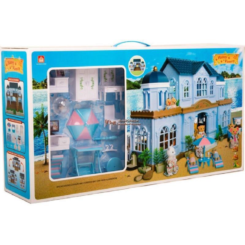 Вилла Happy family 012-11 с флоксовыми животными