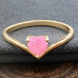 Кольцо 11553 размер 19 ширина 16 мм вес 2.3 г розовый фианиты позолота 18К
