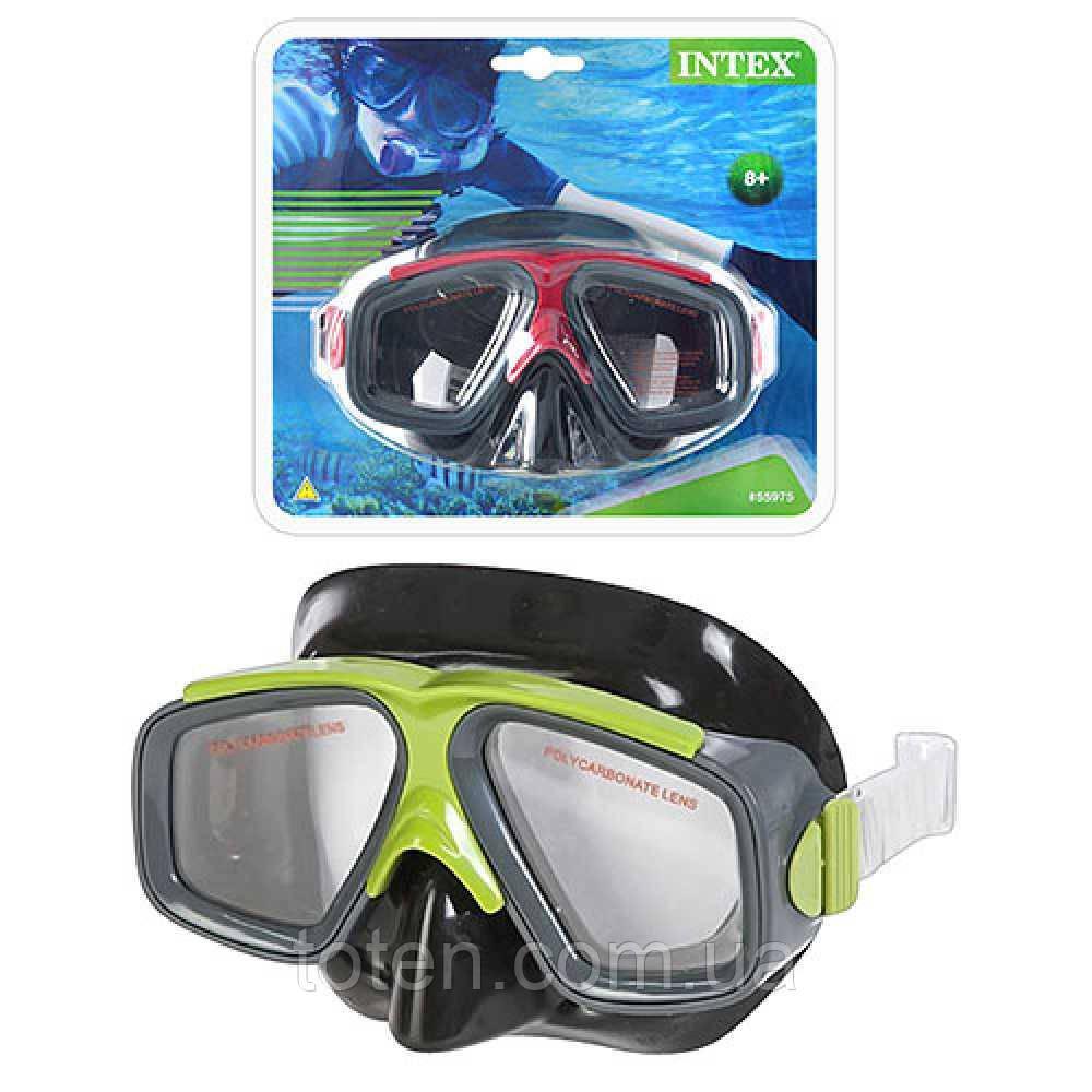 Маска 55975 для подводного плавания INTEX, для детей от 8 лет