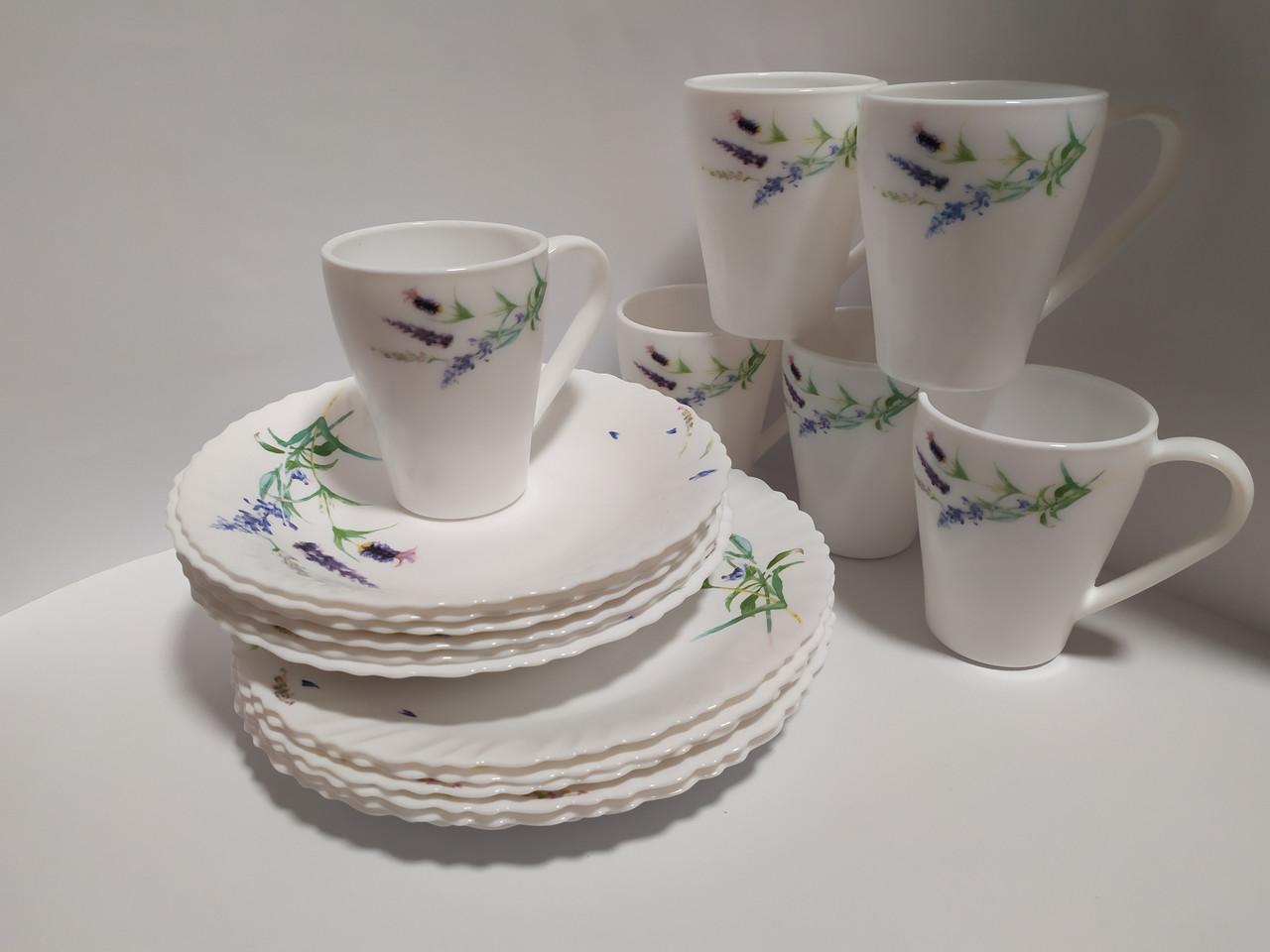 Набор посуды обеденный 18 предметов Прованс