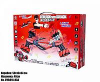 Трюковая машинка-багги светящаяся (красная), управление от руки + пульт ДУ