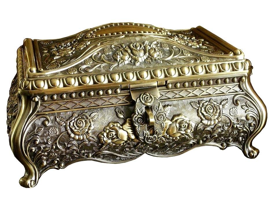 Винтажная шкатулка для украшений Rococo + бесплатная индивидуальная гравировка