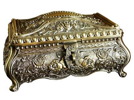 Винтажная шкатулка для украшений Rococo + бесплатная индивидуальная гравировка, фото 2