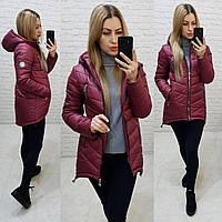 Куртка парка  (арт. 300) темная вишня / вишневая / бордовая