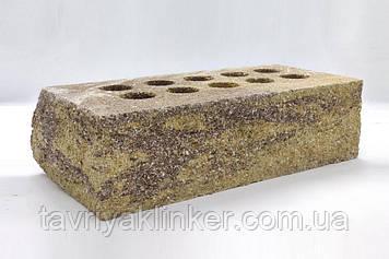 """Облицювальна цегла """"Літос"""" Колотий стандарт тичкова пустотіла Маракеш (коричнево-жовте) 220*100*65"""