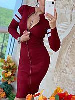 Женское модное платье на молнии РАЗНЫЕ ЦВЕТА