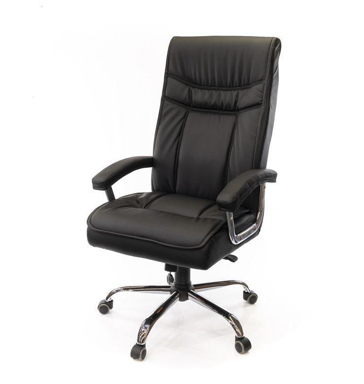 Кресло офисное ЭКОкожа АКЛАС Бургас CH ANF чёрное