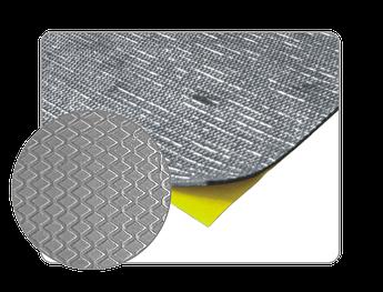 Самоклеящийся битумный звукоизолирующий материал с алюминием APP MW 500 A, 500 х 500 мм