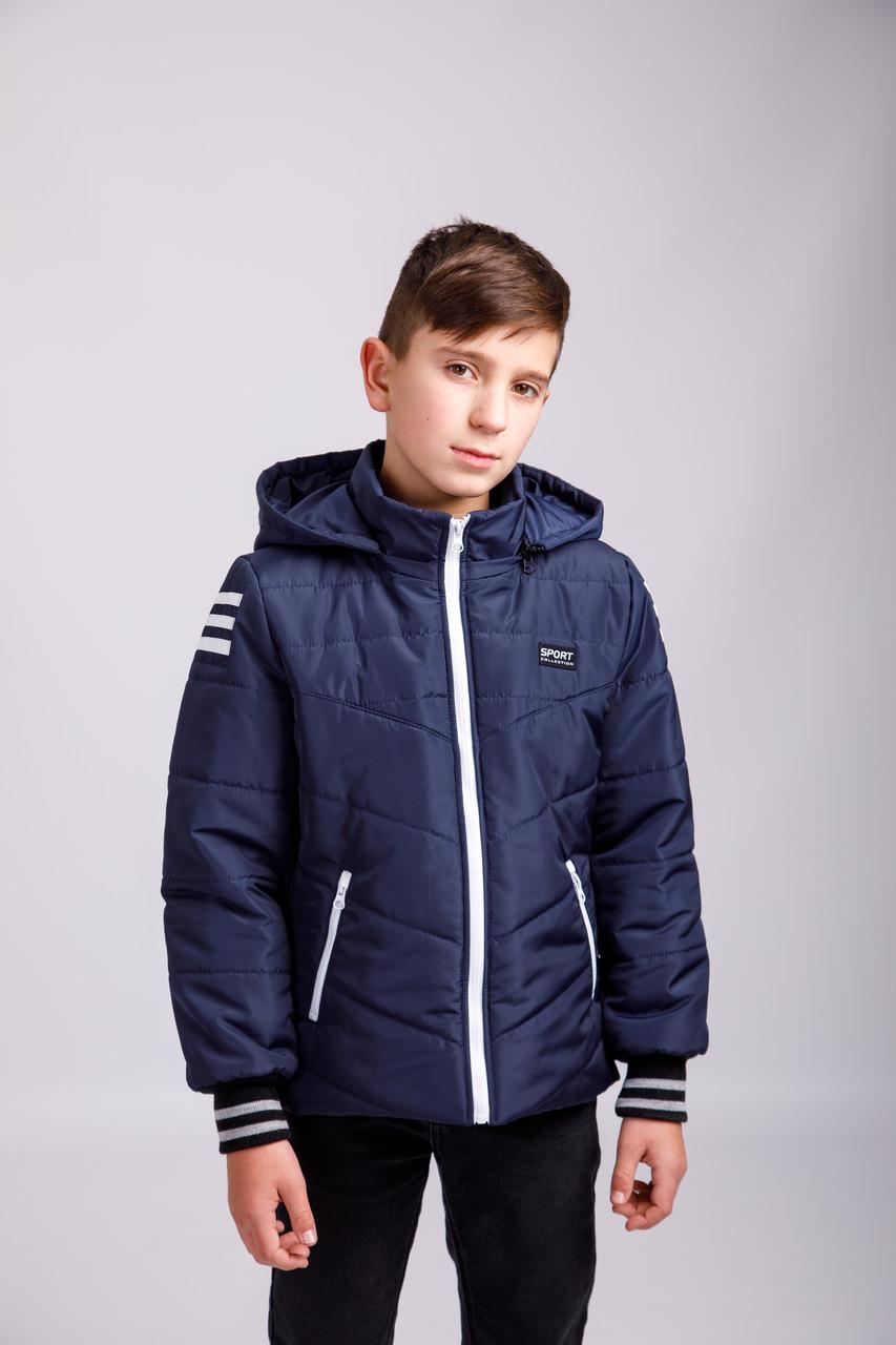 """Куртка демисезонная подростковая для мальчика """"БРАИН"""" р.128-134-140-146"""