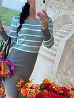 Женское модное трикотажное платье  РАЗНЫЕ ЦВЕТА