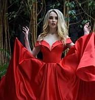 Вечернее Выпускное Атласное платье