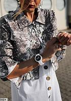 Куртка женская короткая стильная демисезонная эко-кожа 42-48р.,цвет питон