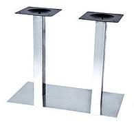 Опора для стола Днестр (нержавеющая сталь inox) (высота 72 см, основание 40*70 см)
