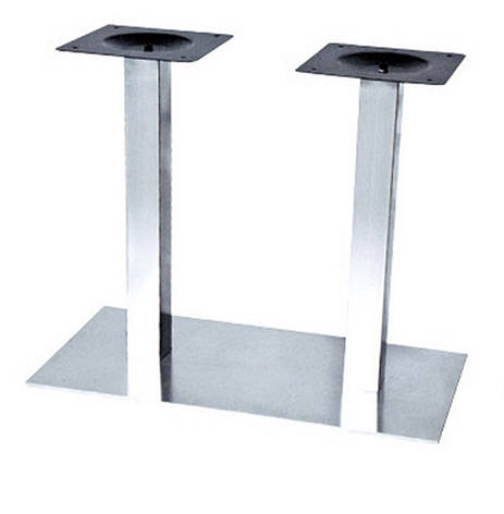 Опора для стола Днестр (нержавеющая сталь inox) (высота 72 см, основание 40*70 см), фото 2