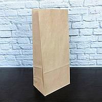 Крафт пакет з плоским дном бурий 215*90*65