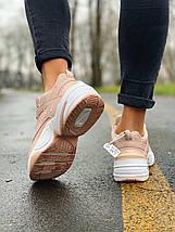 Женские кроссовки в стиле Nike M2K Tekno пудра, фото 3