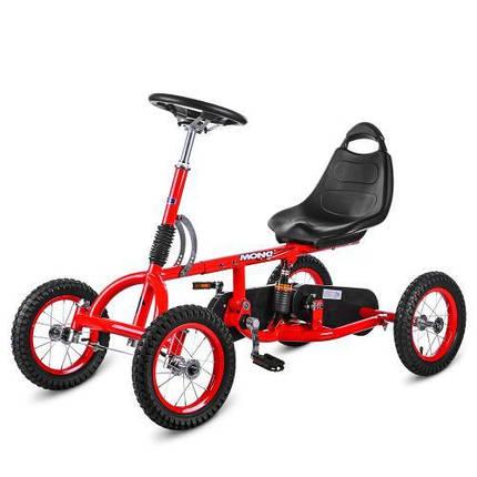 """Педальная машинка карт Bambi M 1697-3-2 червоний надувні колеса 12"""", фото 2"""