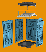 Дачная душевая кабинка уличный душ