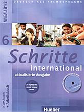 Учебник и рабочая тетрадь Schritte international 6 Kursbuch + Arbeitsbuch mit Audio-CD zum Arbeitsbuch und int