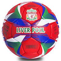 Мяч футбольный 5 размера ЛИВЕРПУЛЬ LIVERPOOL сшитый вручную красный (СПО FB-0685)