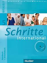 Учебник и рабочая тетрадь Schritte international 5 Kursbuch + Arbeitsbuch mit Audio-CD