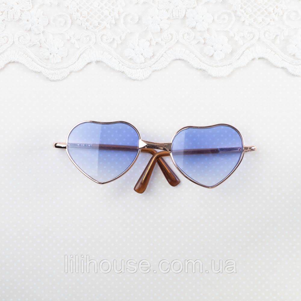 """Очки для куклы """"Сердце"""" 10*3 см, Синие"""