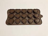 Форма силиконовая для конфет Сердце в сердце