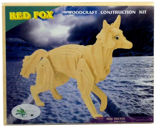Сборная деревянная 3D модель лисы