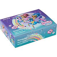 Гуашь Kite Shimmer&Shine SH20-063, 12 цветов