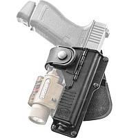 Кобура Fobus для Glock-19/23 с подствольным фонарем, с поясным фиксатором, поворотная