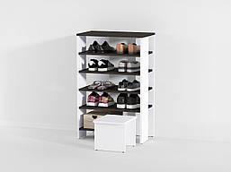Стеллаж под обувь на 5 больших ячеек + стул из ДСП (7 ЦВЕТОВ) 600х935х344 мм Возможны Ваши размеры