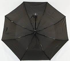 Зонт мужской полуавтомат с куполом 97 см Flagman черный. Анти-ветер, 8 спиц., фото 3